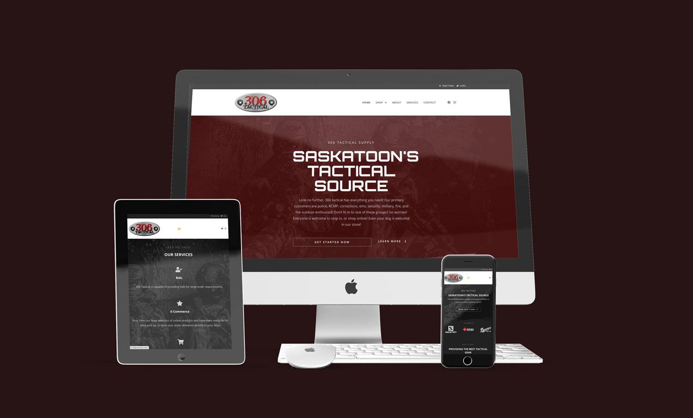 306 Website Mockup