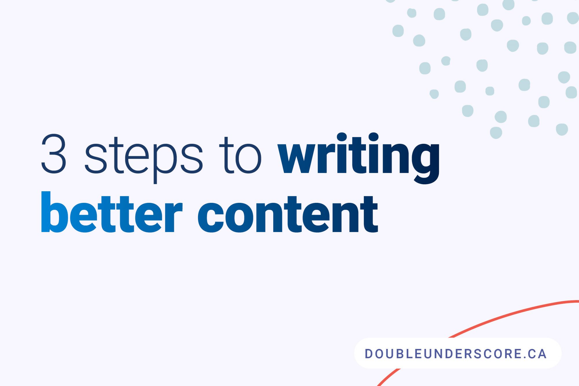 how to write content faster by DoubleUnderscore